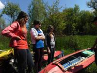 Байдарочные соревнования на реке Осередь